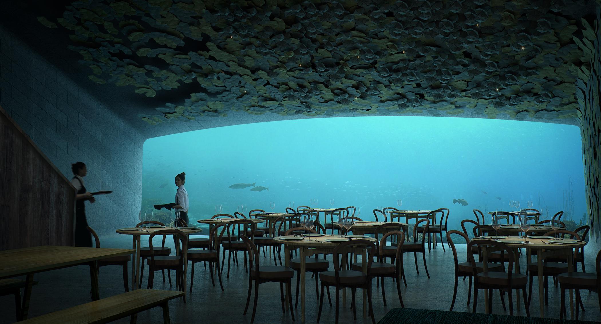 Under Restaurant and Research Centre by Snøhetta. Image: MIR and Snøhetta