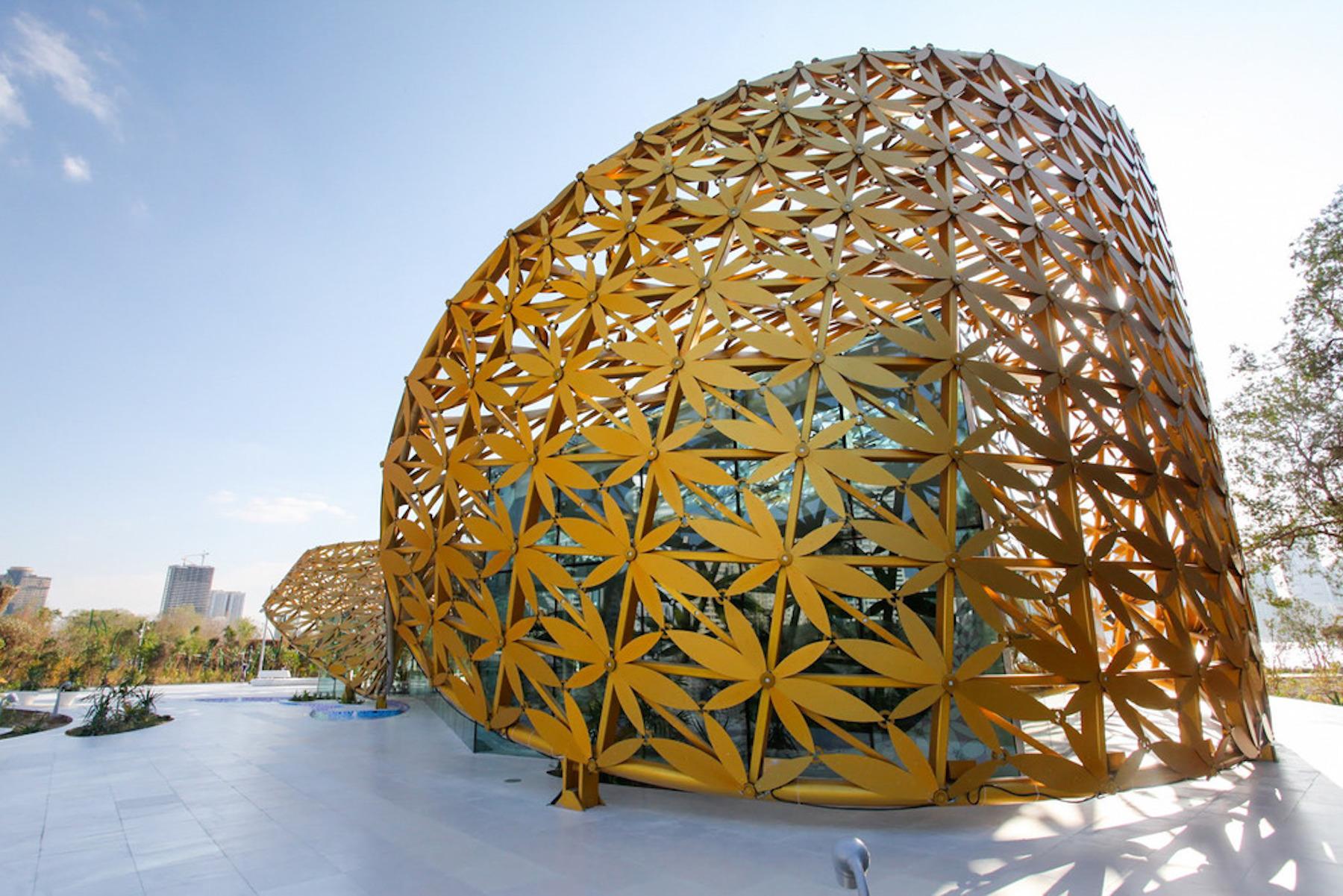 Arquitectura de animales. Pabellón Mariposa en la Isla de Al Noor