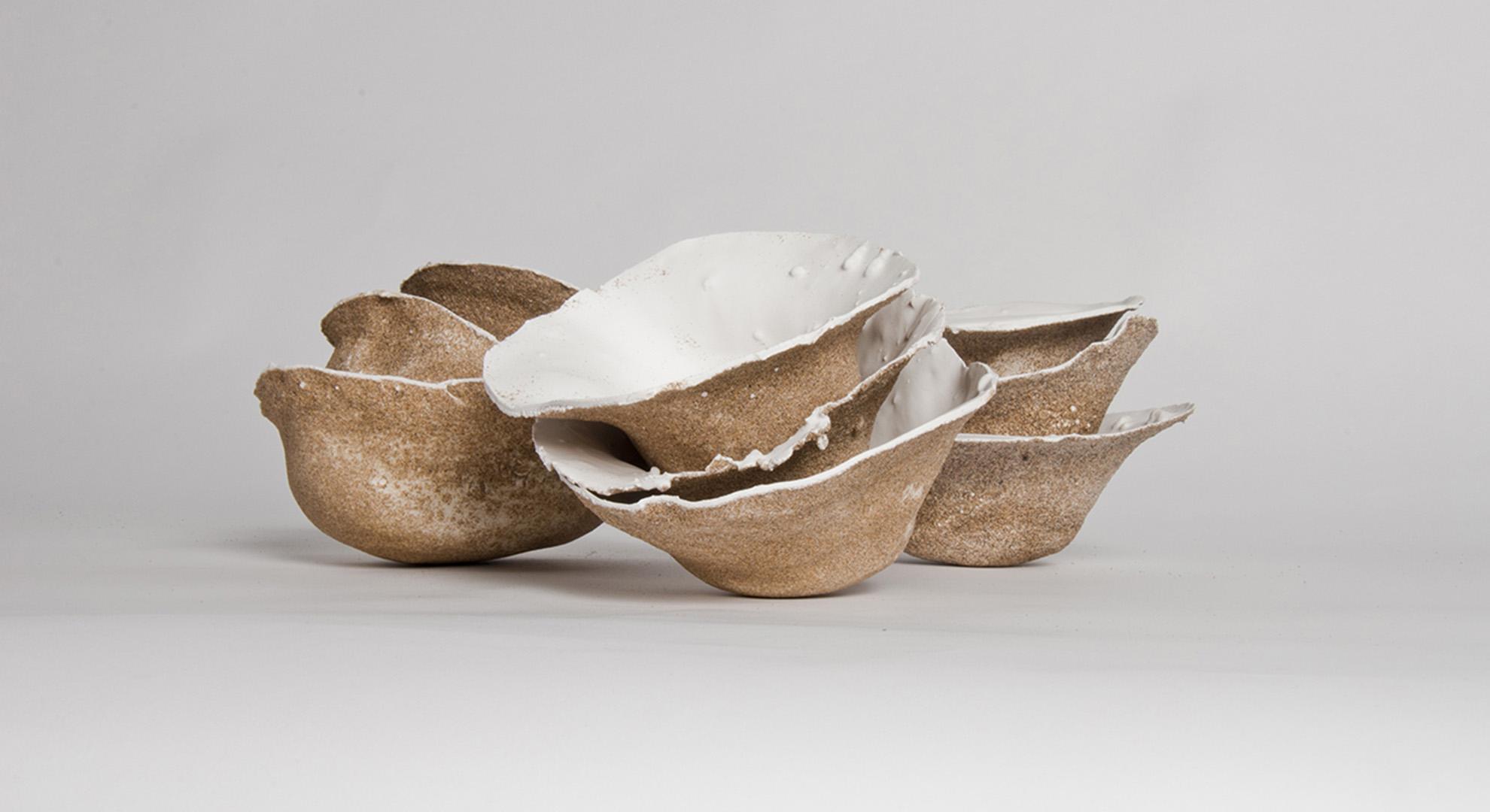 Ocean artwork. Areniscos bowls by Victor Castanera