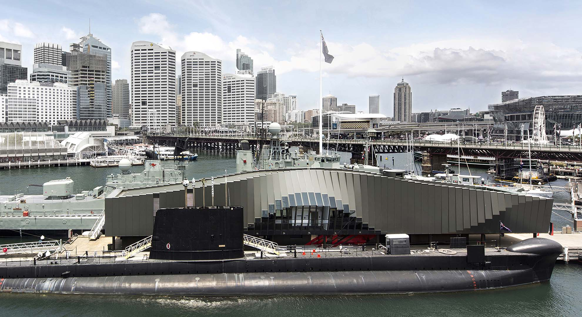 Museo Marítimo en Sidney. Ejemplo de arquitectura y mar