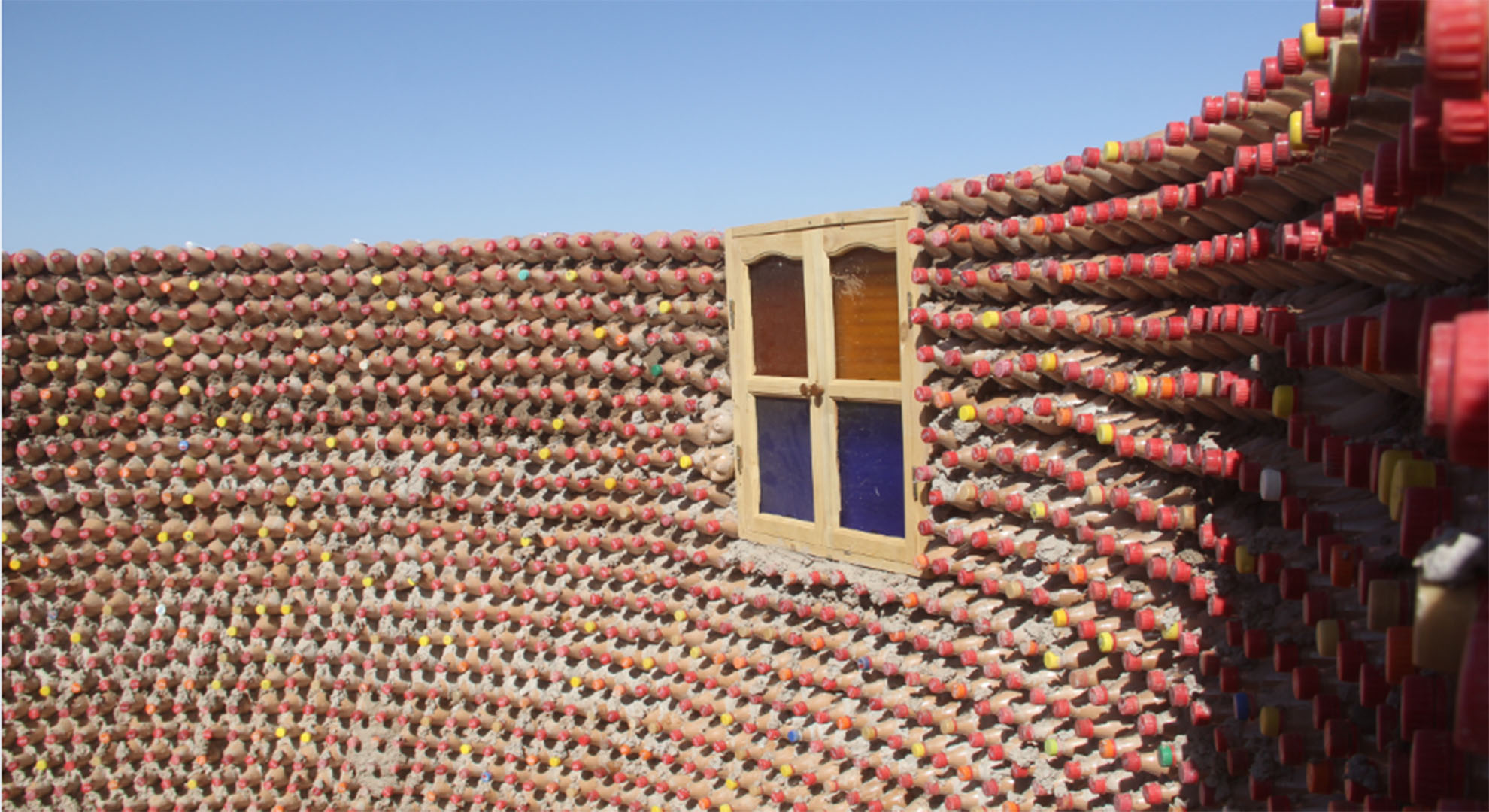 Sustainable homes made with plastic bottles