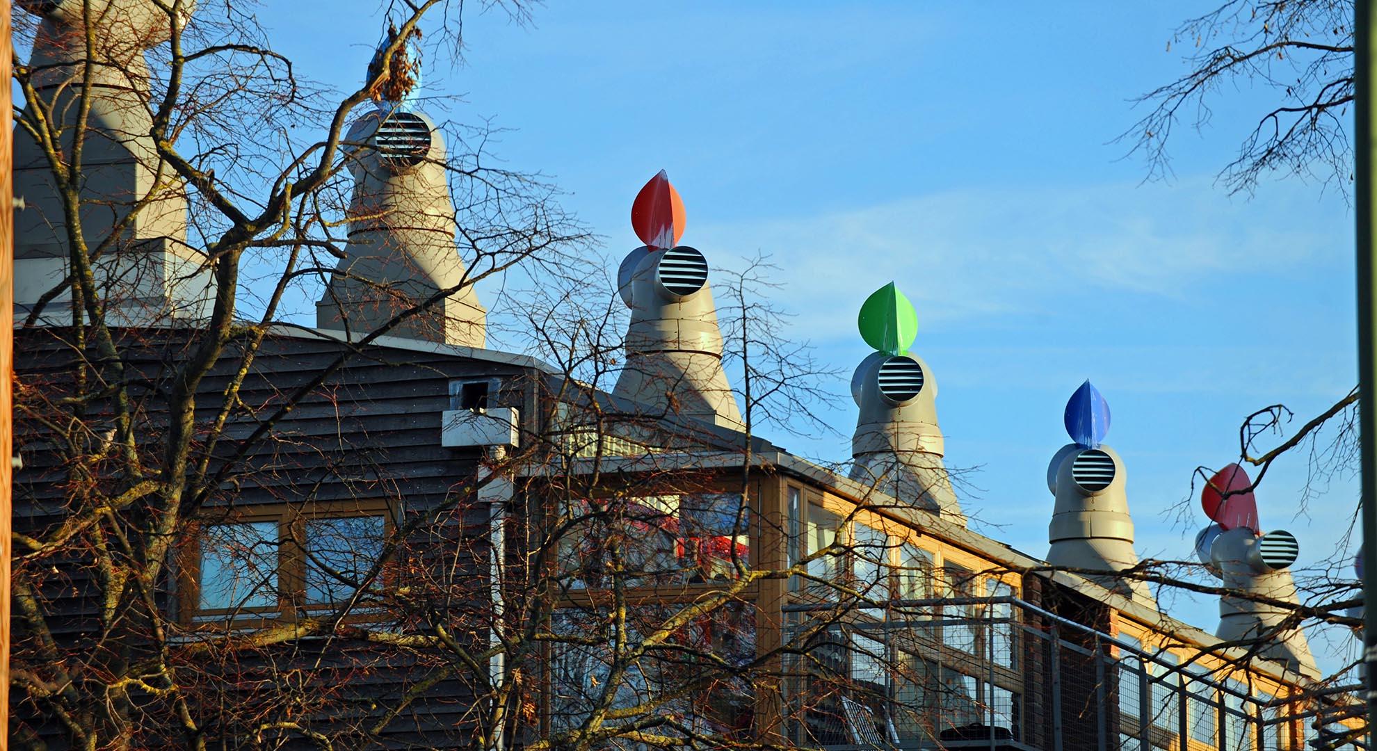 Beddington Zero Energy Development. Sustainable architecture by BedZED