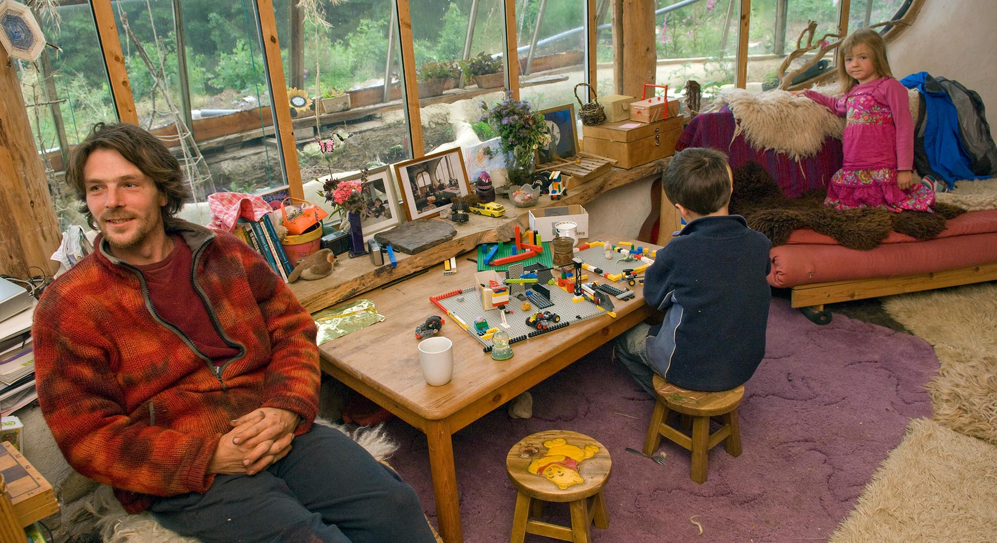 Family in an intentional community