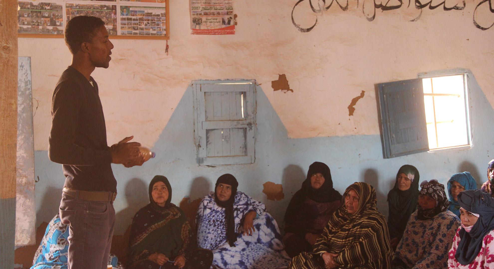 Tatet Lehbib explain his sustainable homes project