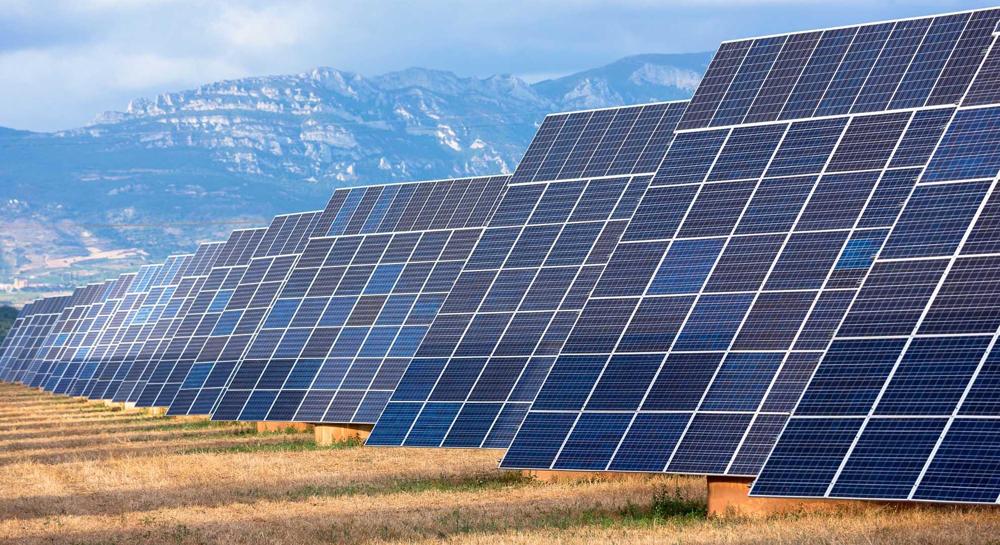 solar energy panels in Spain