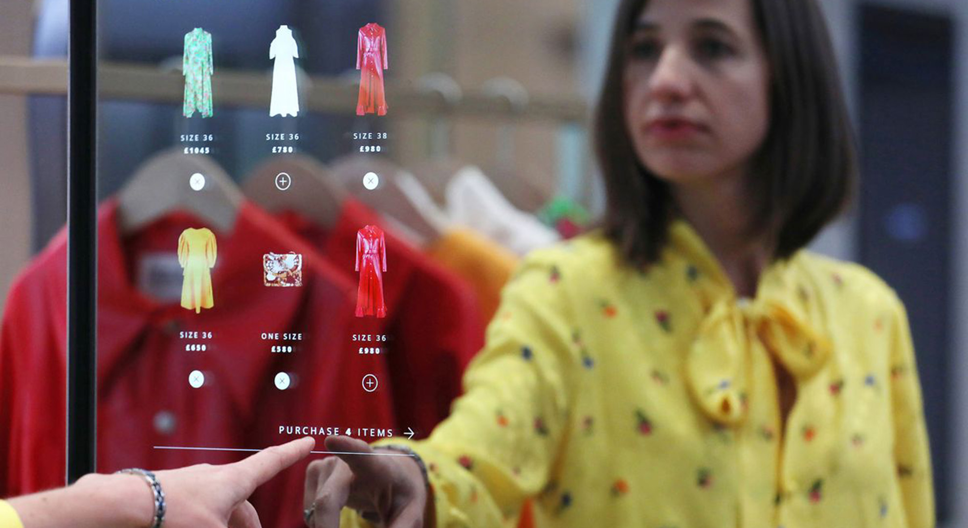 A digital mirror, an example of elements in stores and retail spaces of the future