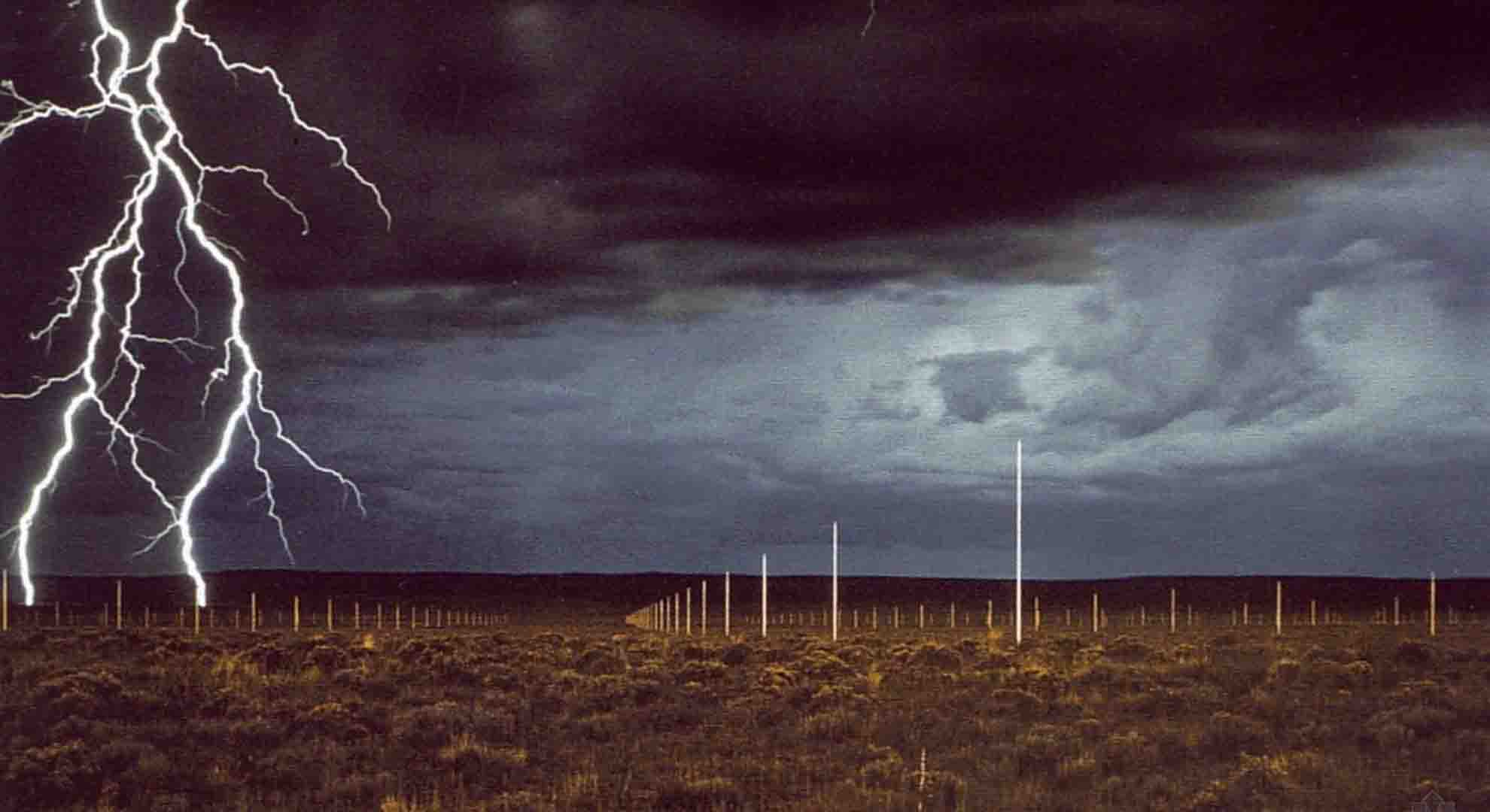 The Lightning Field is a Land Art project by Walter de Maria