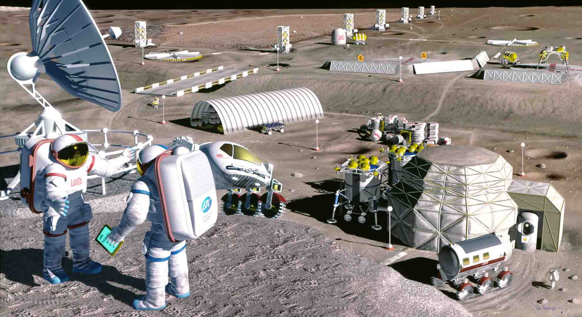 Artist's concept of possible space colony produced for NASA