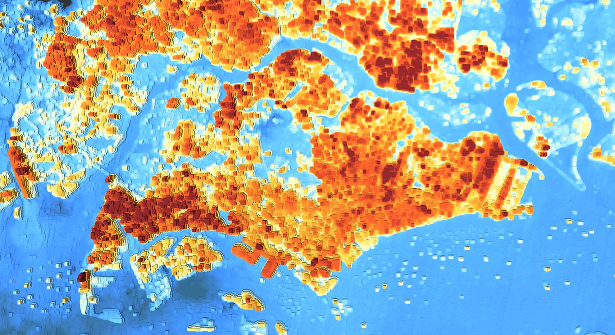 Urban Heat Island effect is particularly prevalent in tropical Singapore, the world's third most densely populated country