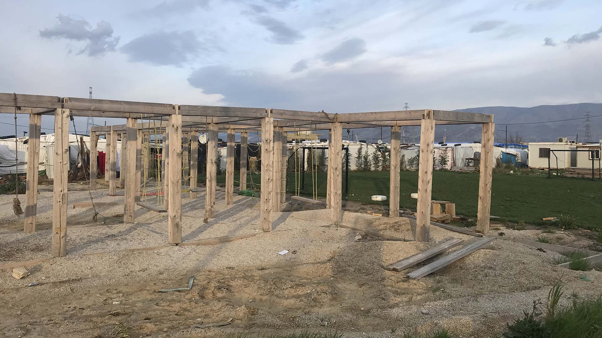 A playground in Bar Elias designed for refugees in Lebanon
