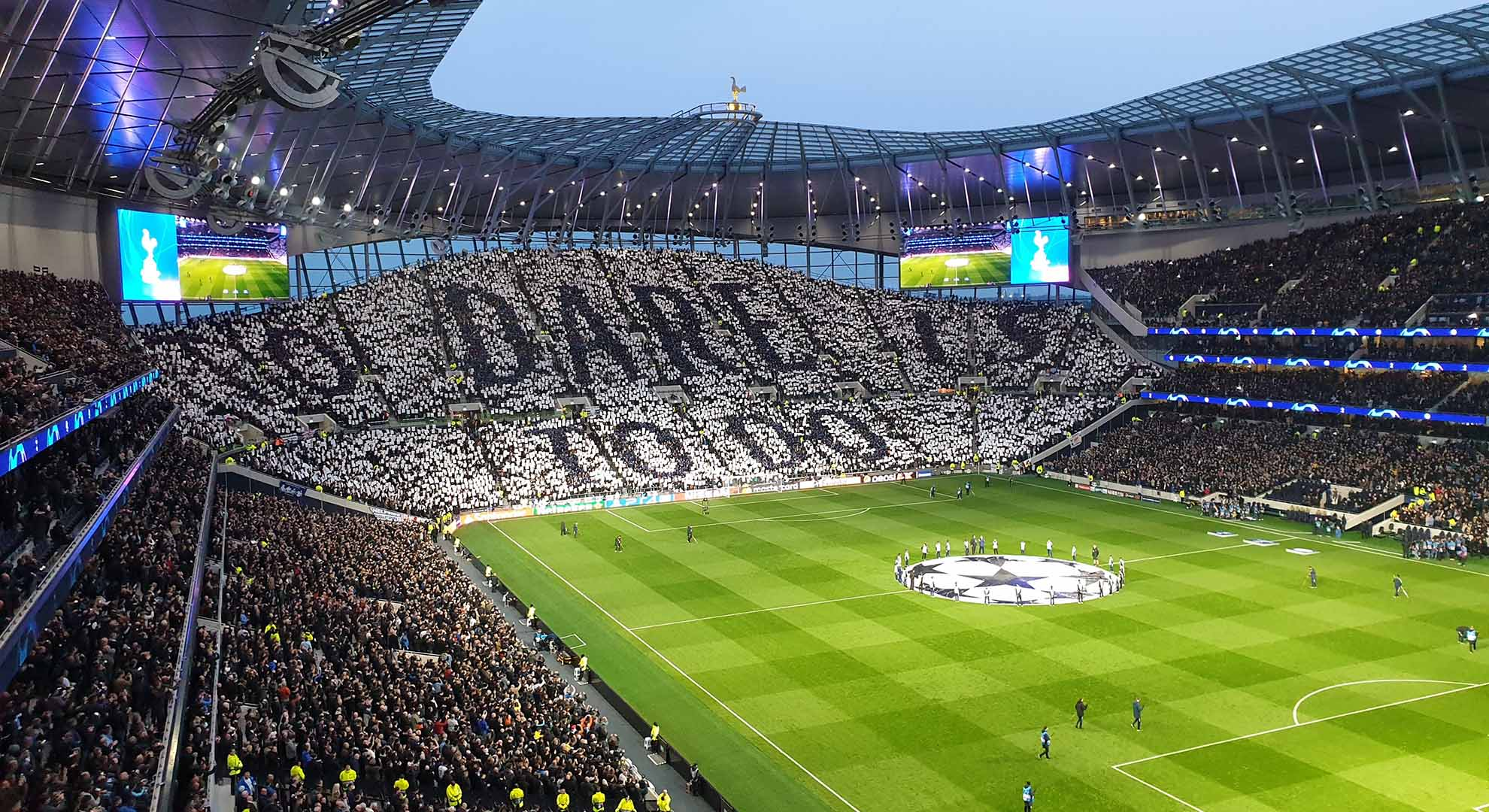 The field of play of the Tottenham Hotspur Football Club in London