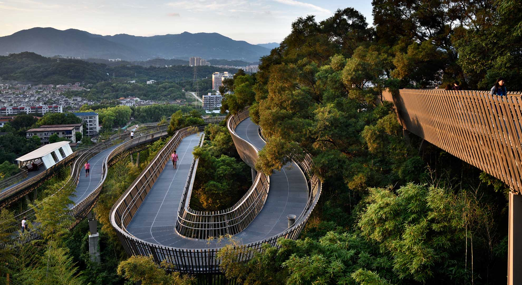Trans-Urban Connector in Fuzhou, China, is a landscaping work that encourages healthy lifestyles