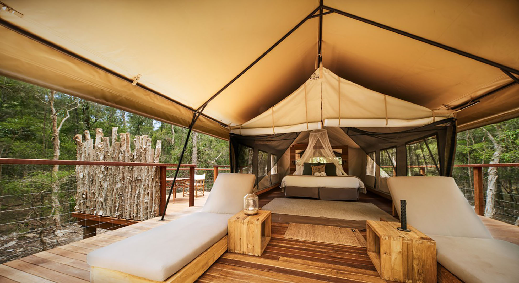 Glamping offers an experience of a peaceful setting, the perfect base from which to explore a nature lovers paradise