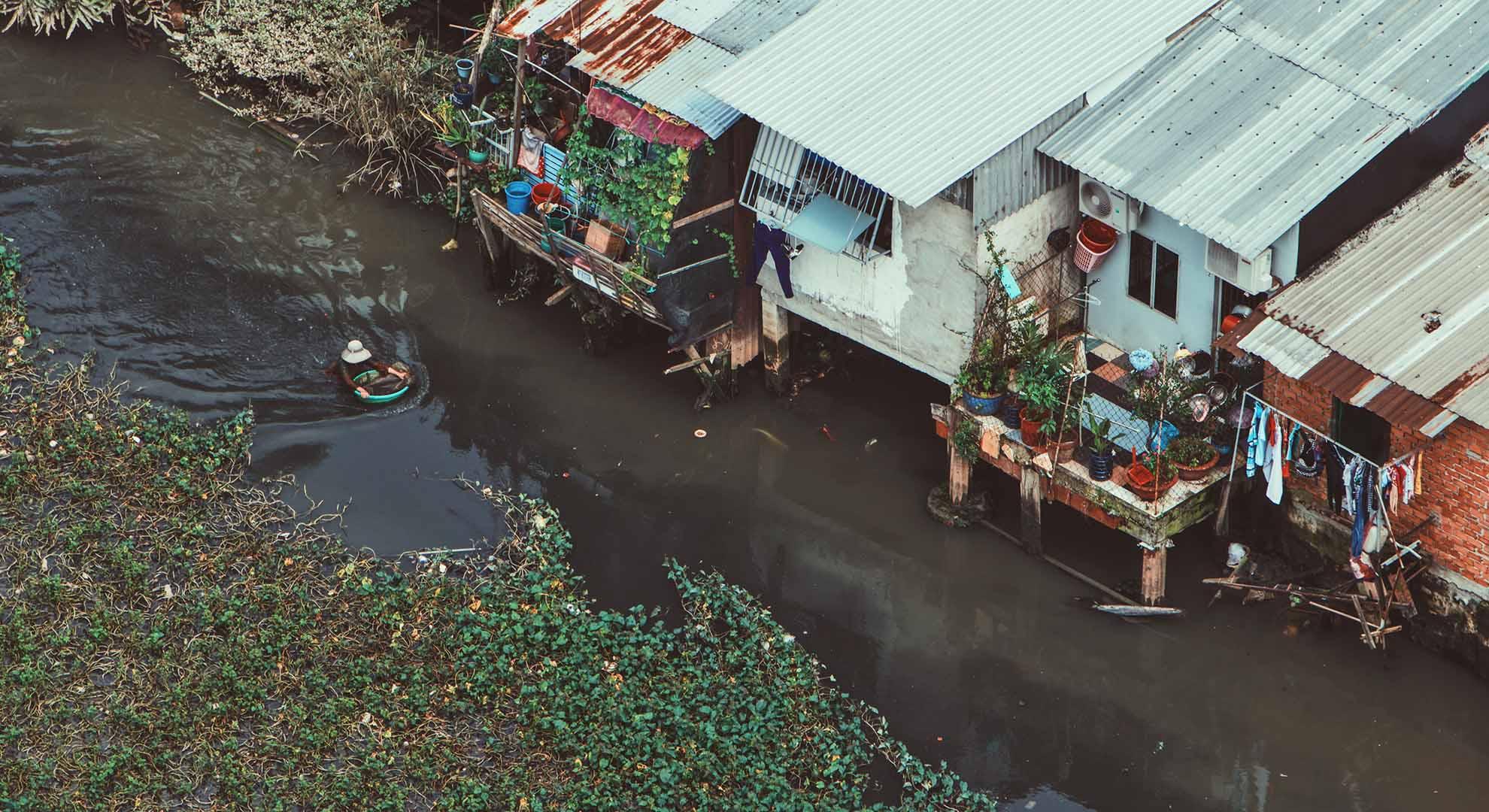 La ciudad de Ho Chi Minh, en Vietnam, tras sufrir inundaciones.