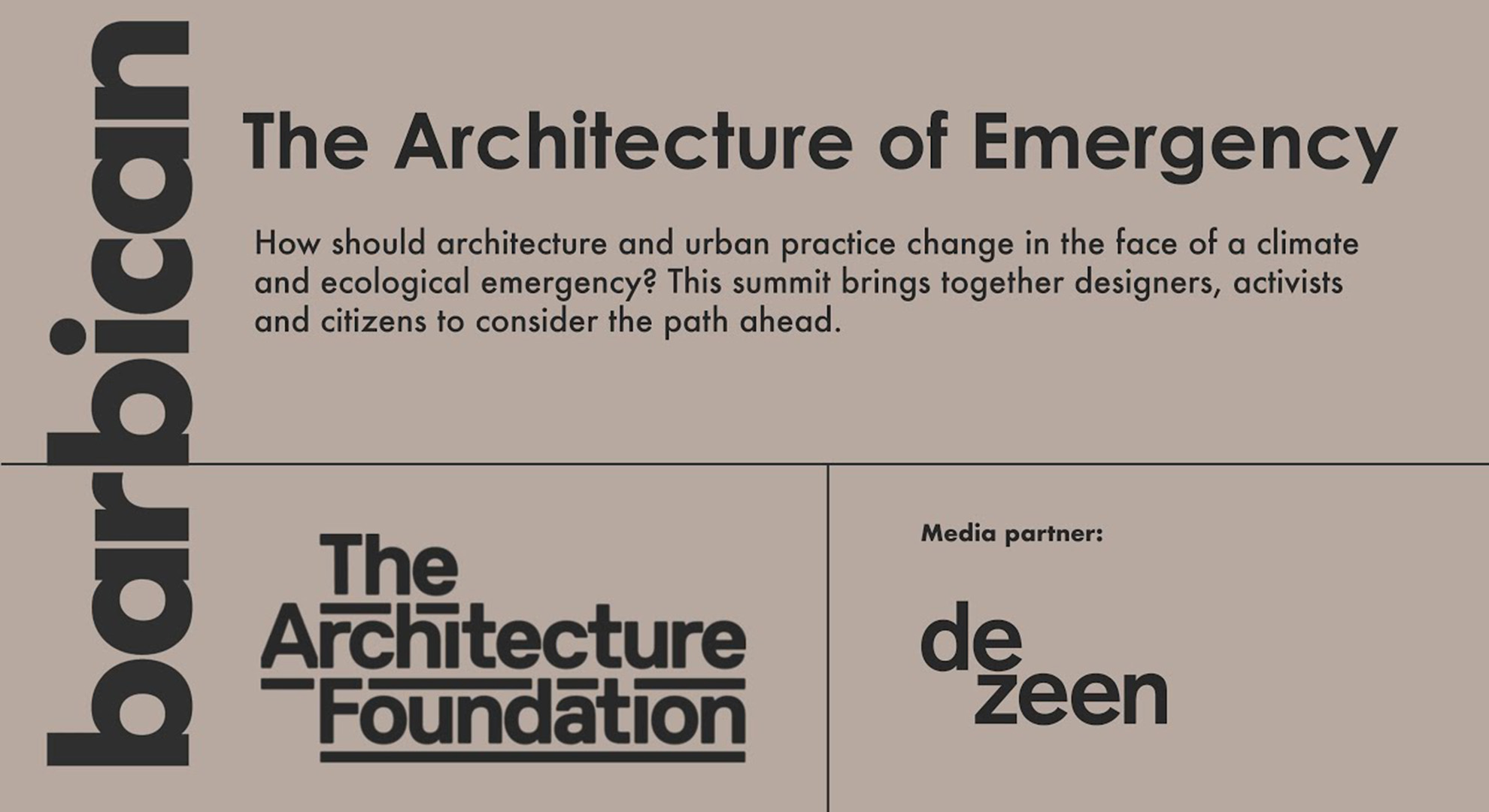 The Architecture of Emergency Summit