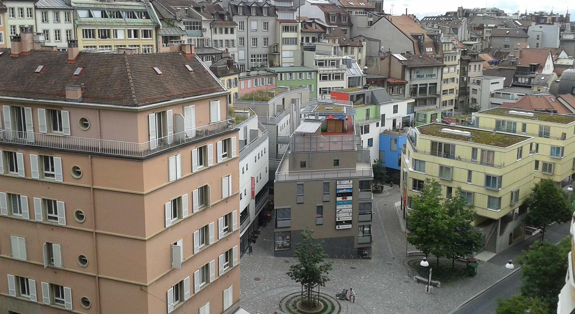 Diversidad y mixtura urbanas, Lausanne, Suiza