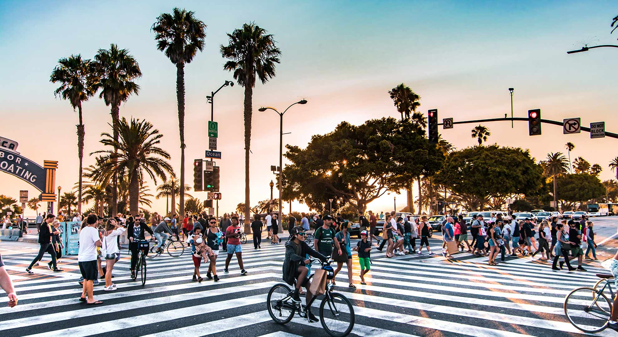 Crosswalk on Santa Monica boulevard