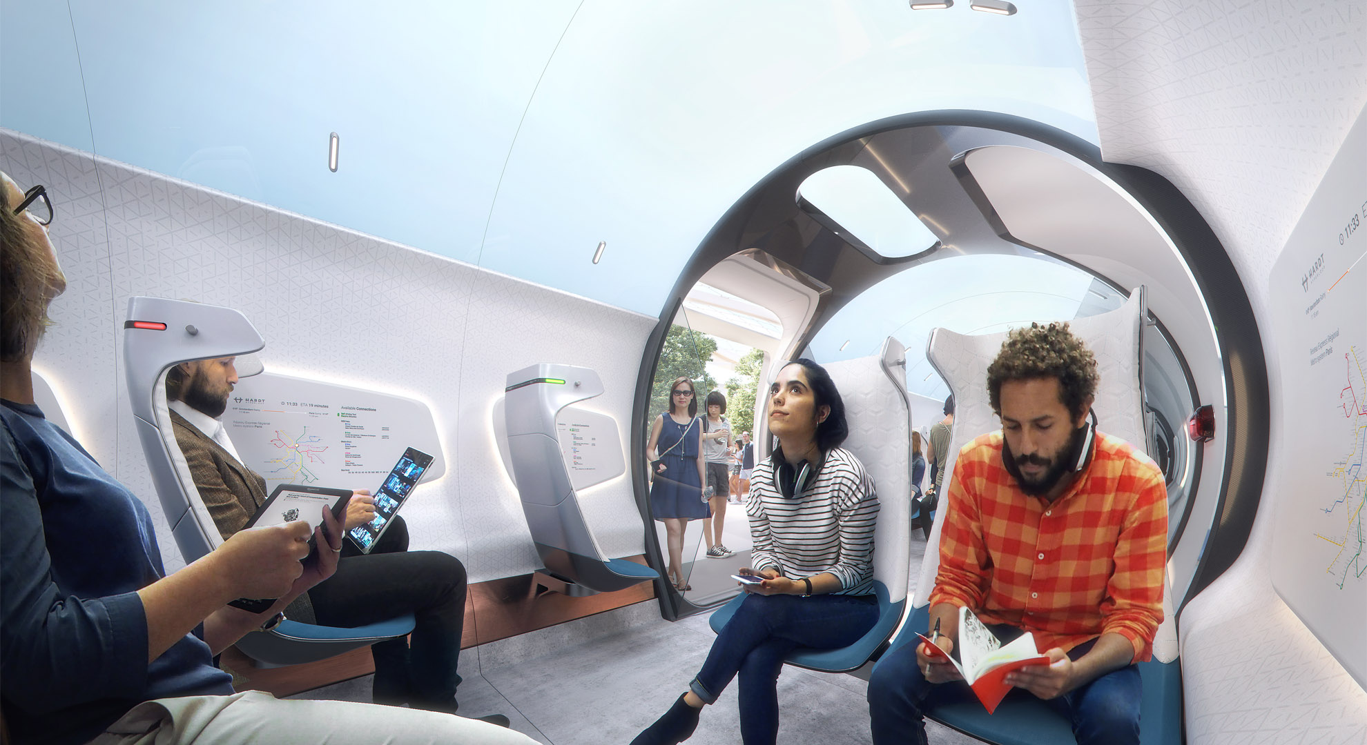 Hardt_HyperloopVehicle, UNStudio (design), Plompmozes (visualization)