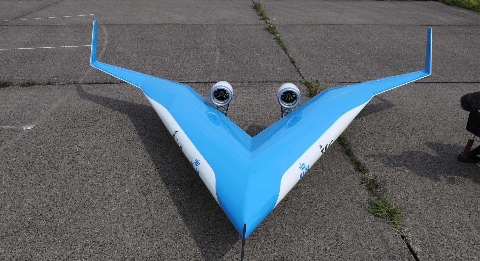 Flight-test of the Flying-V scale model. Malcolm Brown/TU Delft