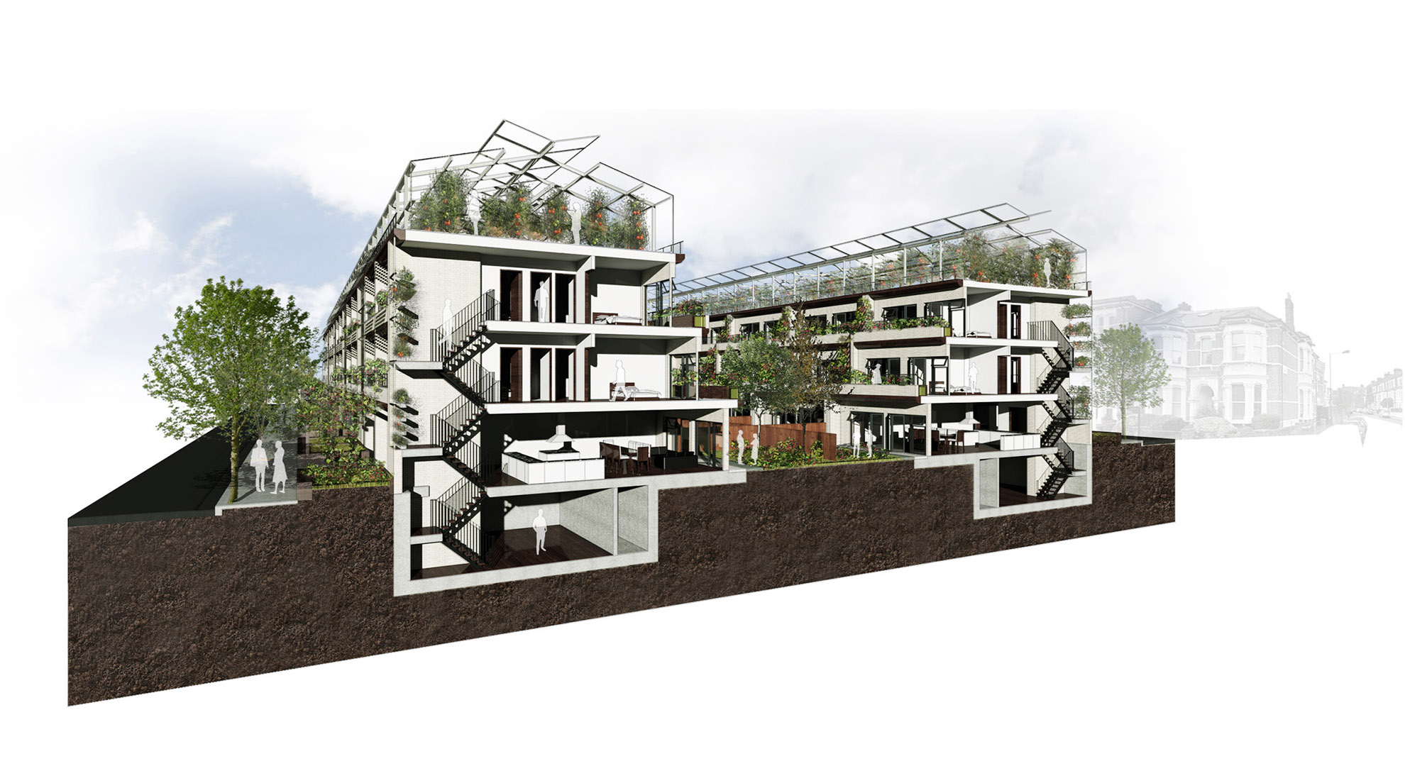 Terrace housing could be an opportunity for urban agriculture.