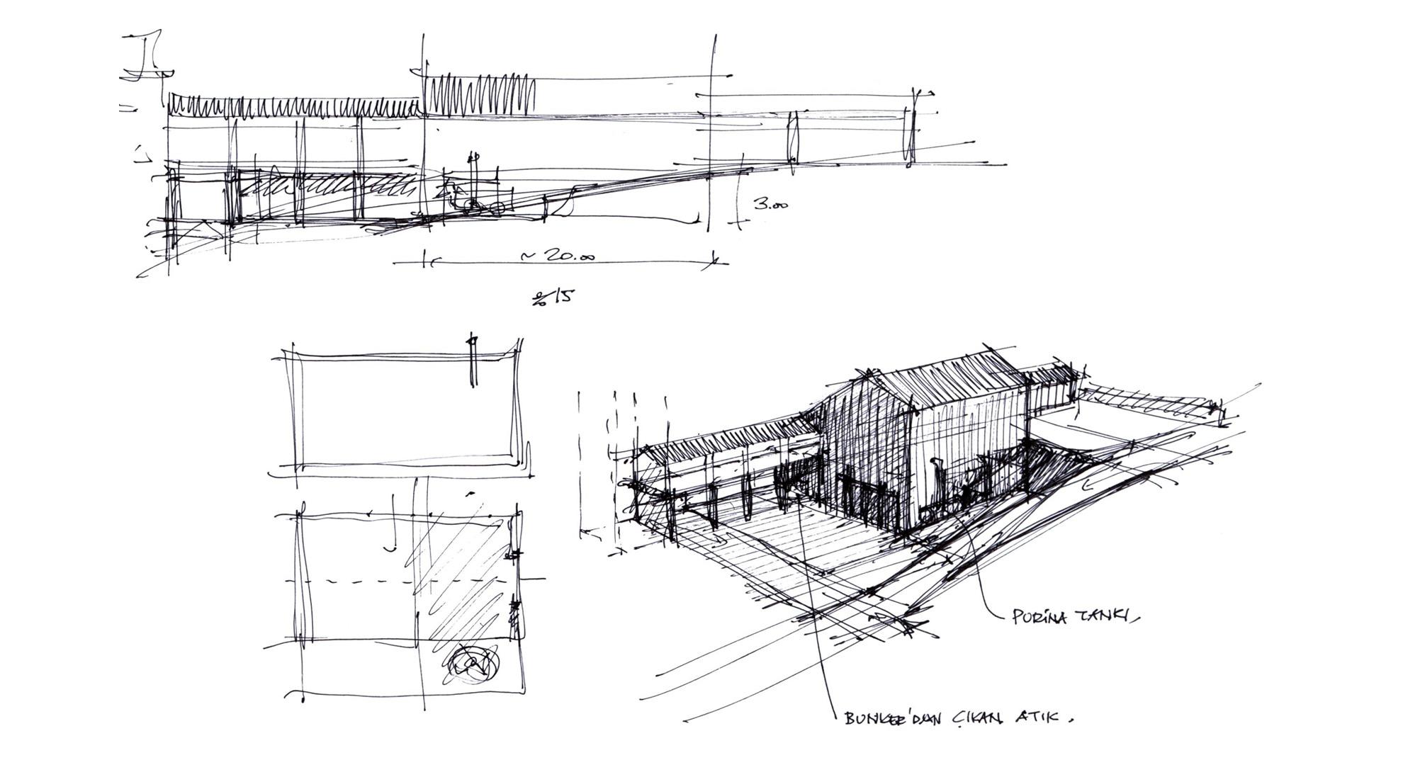 Conceptual sketches by Han Tümertekin.