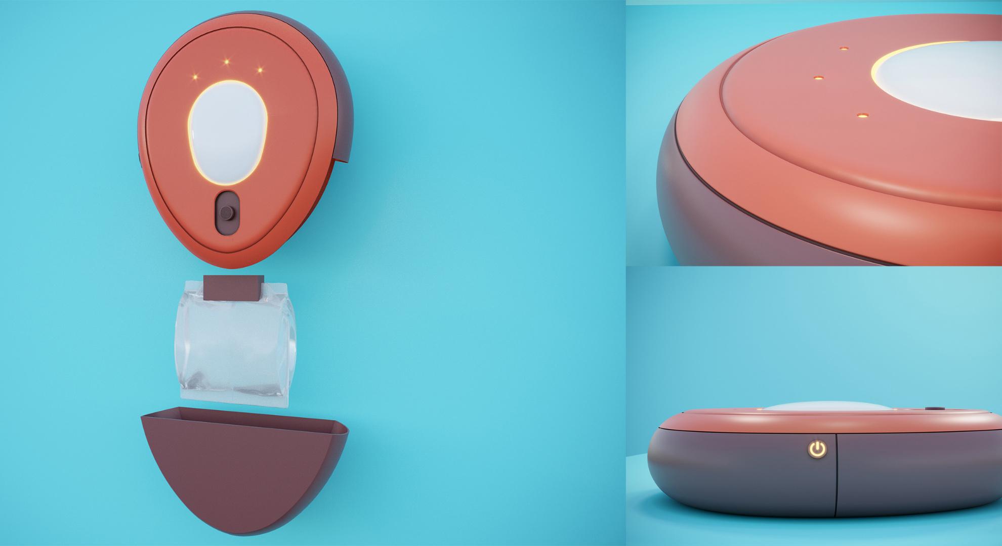 The edutainment project Bubble Bump measures body temperature.
