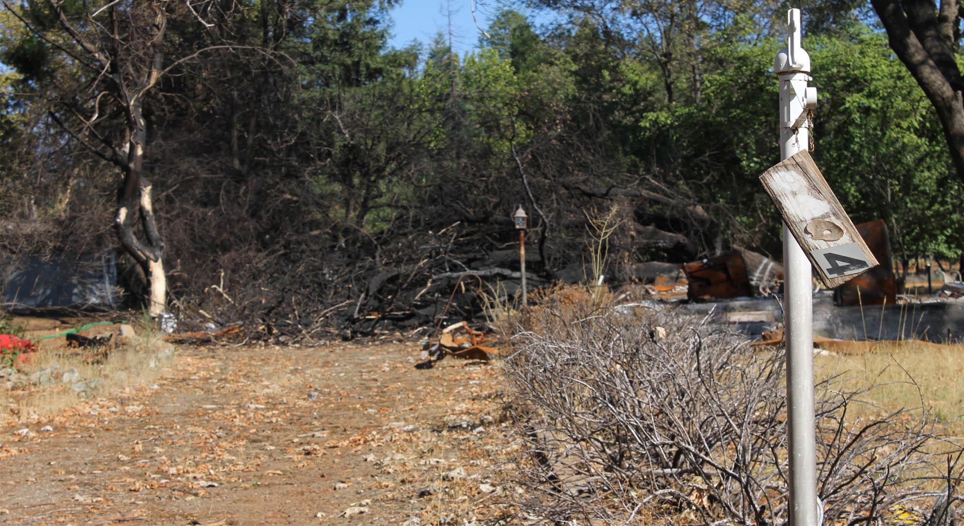 home destroyed by fire in Paradise, CA