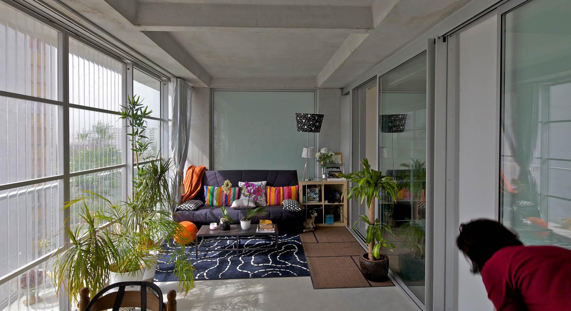 Inside a house in Bordeaux, France.