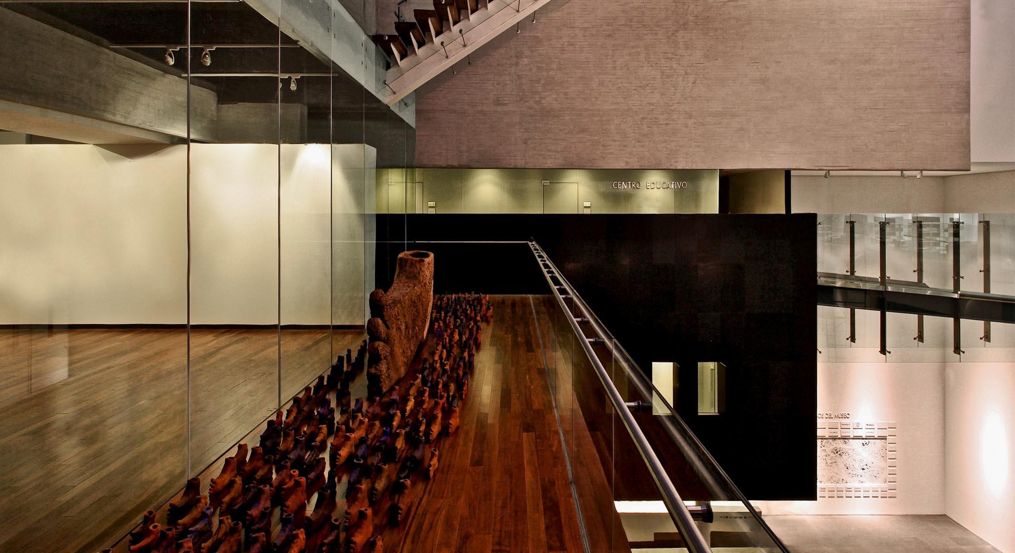 Parte del interior del Museo Memoria y Tolerancia, en México.