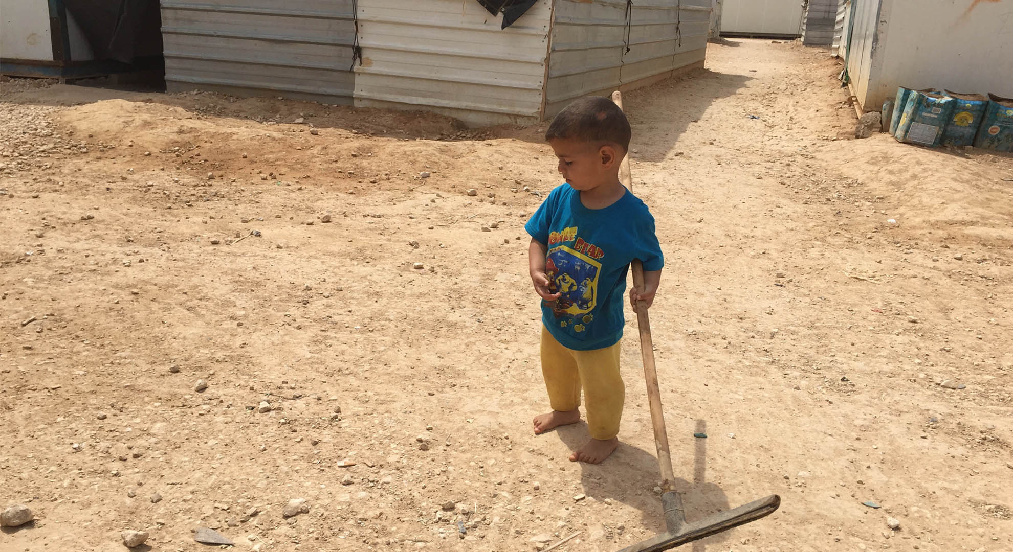 Childhood in a temporary camp in Jordan.