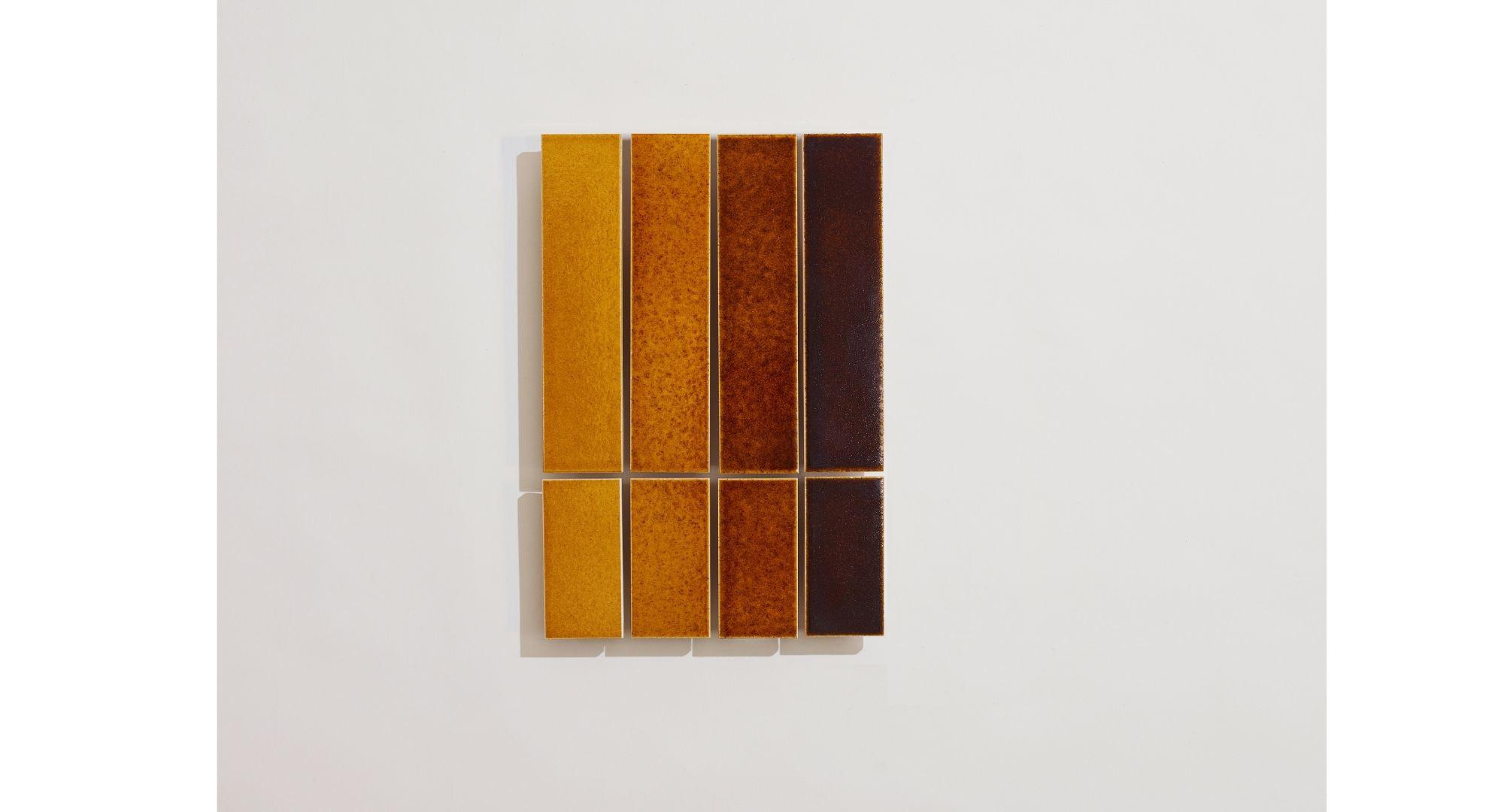 Design and tonal variation in glazed tiles.