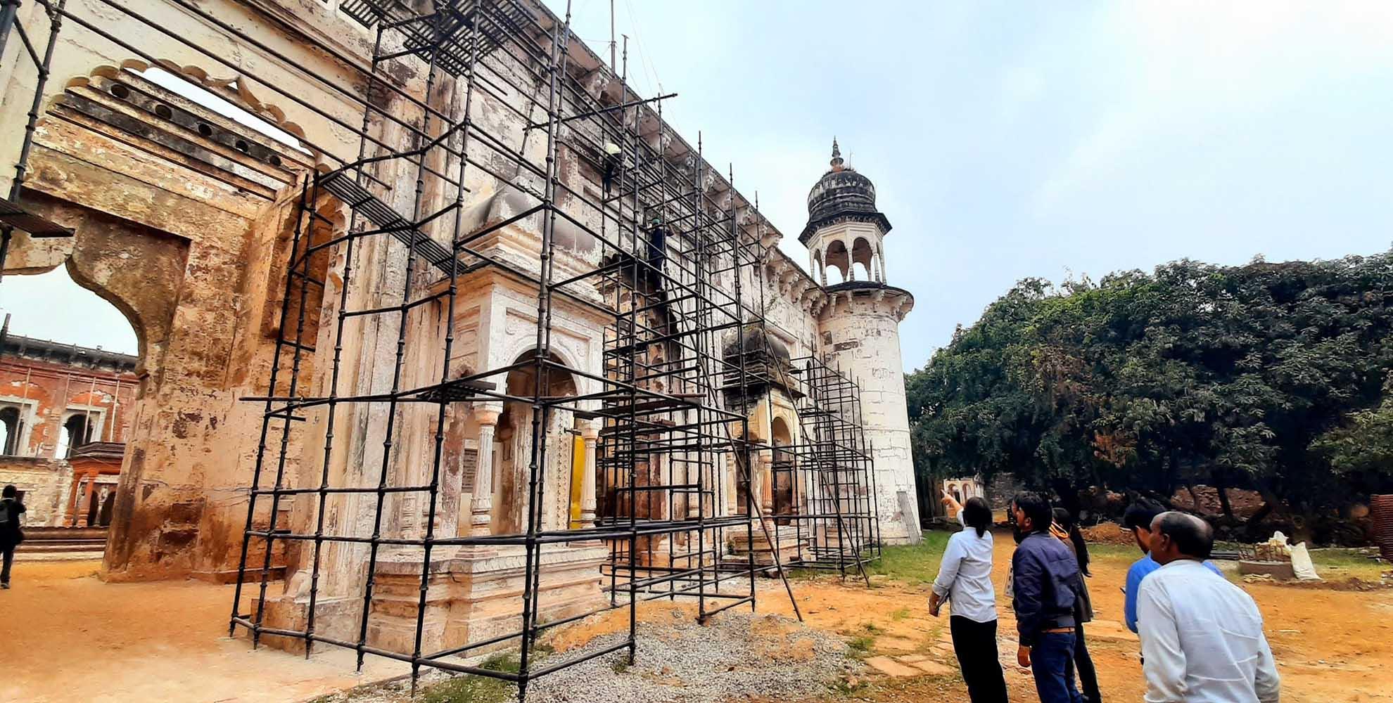 El Palacio Govindgarth Fort forma parte del patrimonio cultural de la India.