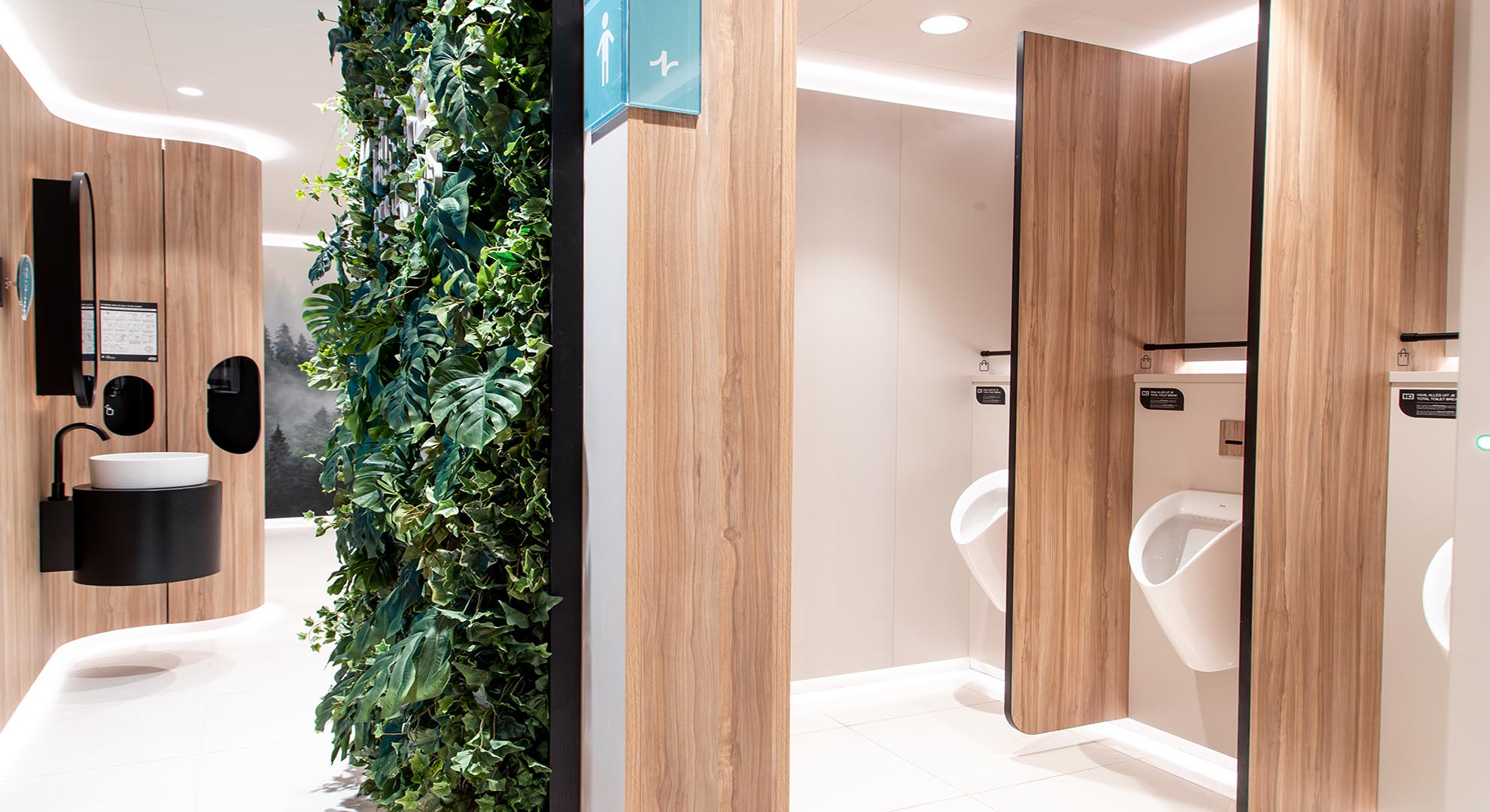 View of a Roca bathroom design with One Hundred Restrooms.