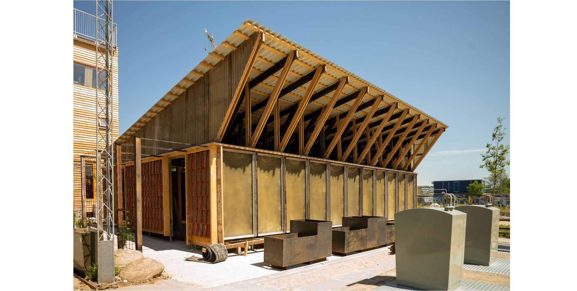 The reuse of materials is a creative way of producing new buildings.