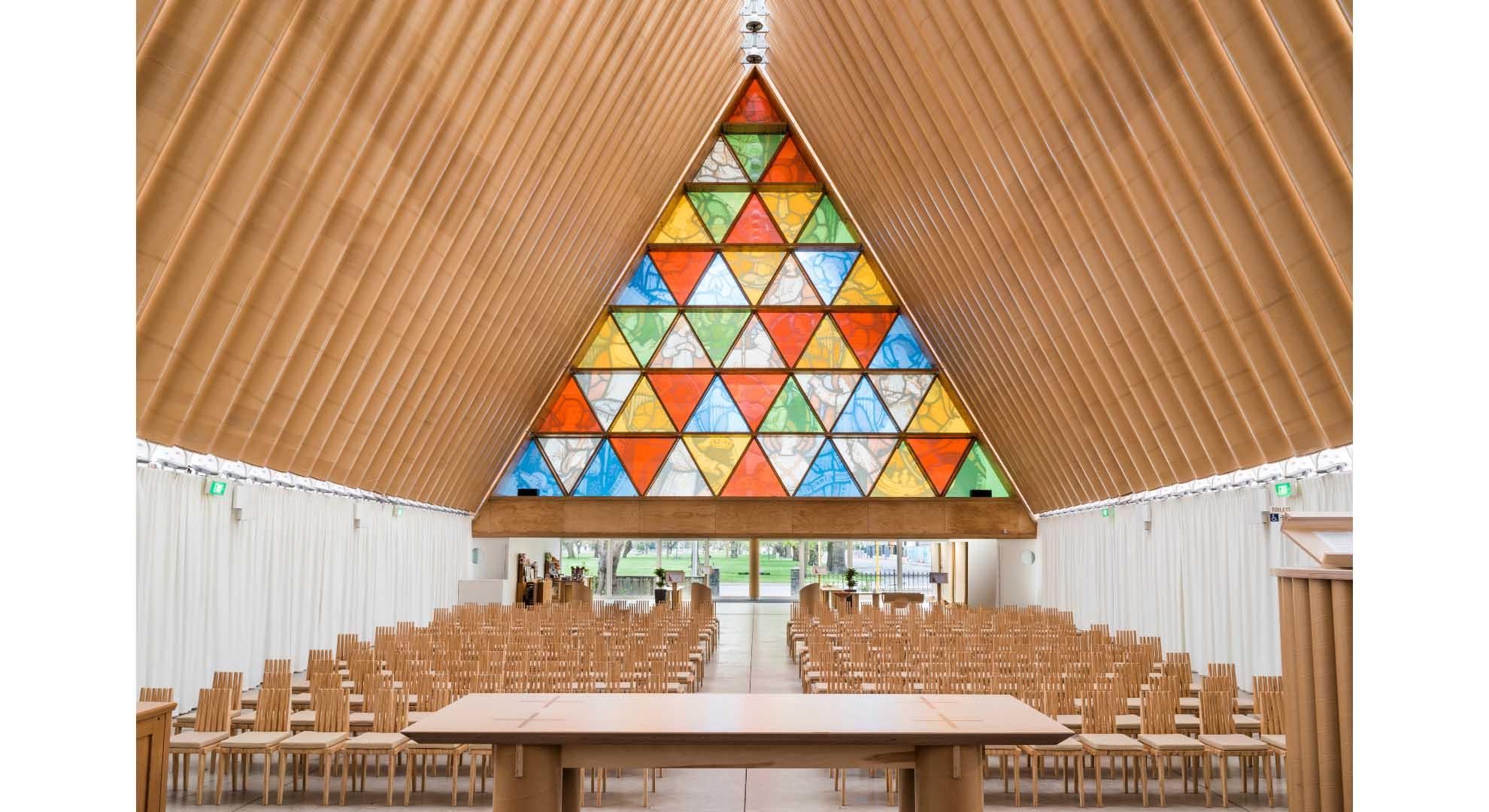 Cardboard Cathedral designed by Shigeru Ban.