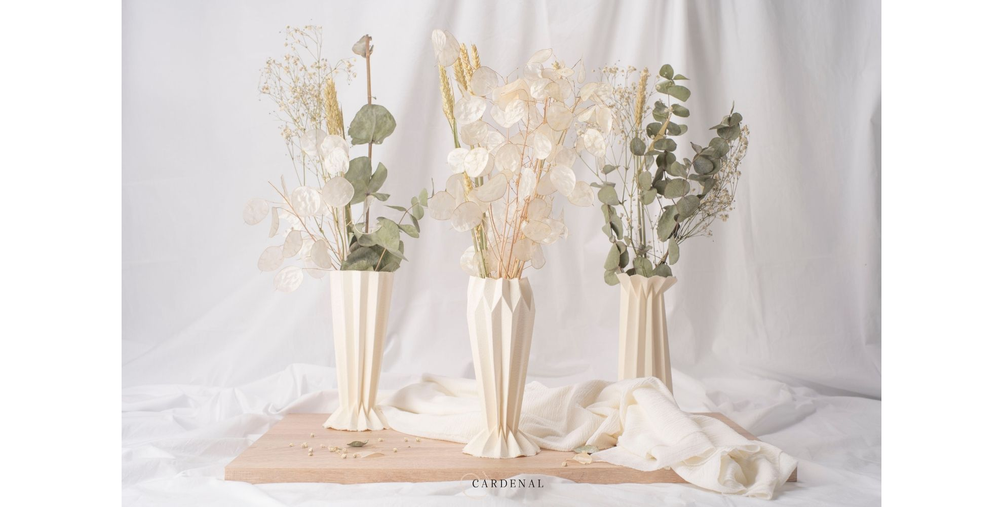 Reuse and recycling of dried flowers.