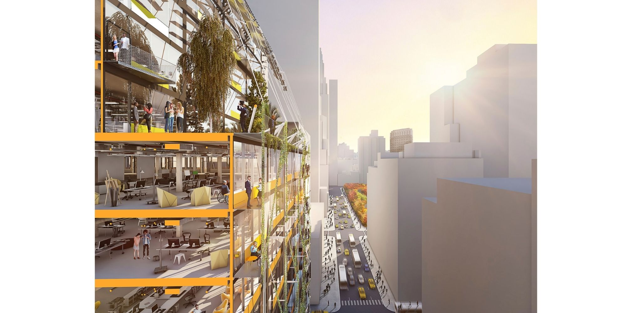 Sustainable design in a winning proposal for an ideas competition.