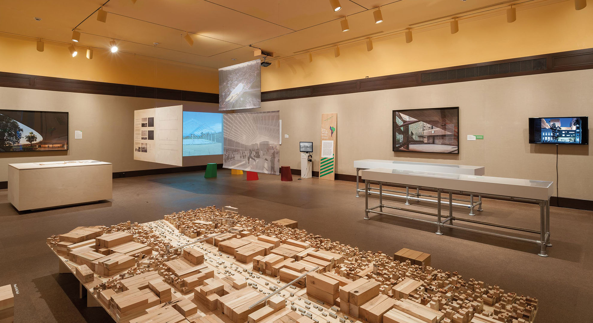 An installation in an architecture exhibition in Pennsylvania.